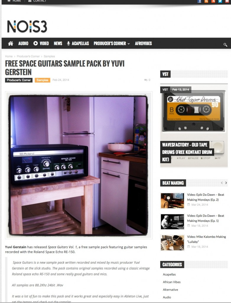 space guitars free sample pack by yuvi gerstein featured in music blogs around the world yuval. Black Bedroom Furniture Sets. Home Design Ideas